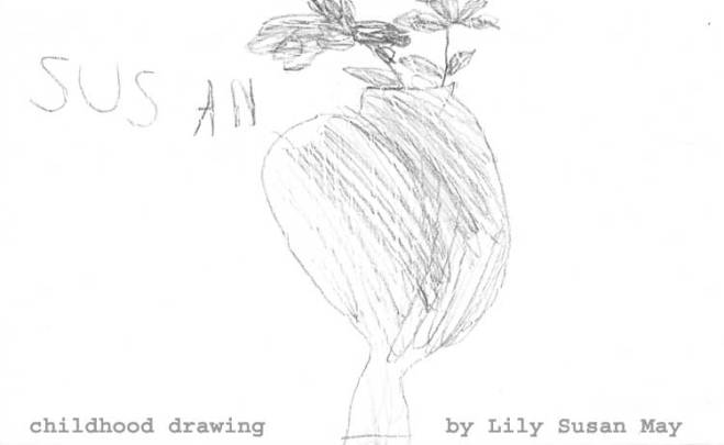 Lily's childhood drawing