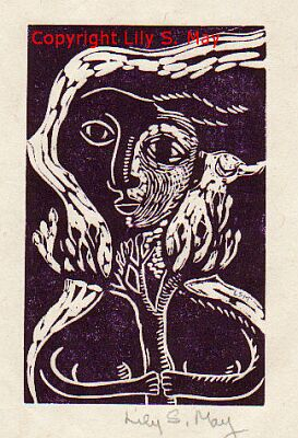 Linocut by Lily S. May
