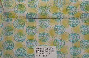Mail Art Envelope from Goop Gallery