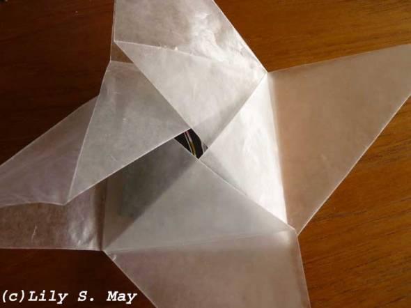 Origami pinwheel envelopes