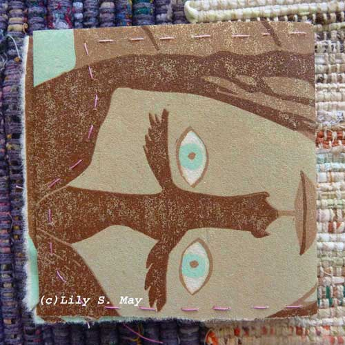 Origami Booklet from Linocut