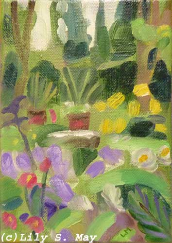 Garden Painting by Lily s. May