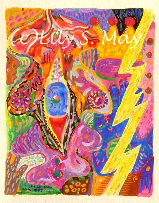 Gouache painting--lightning