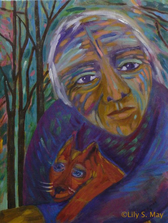 Oil Painting, Kind One, ©Lily S. May, 2009