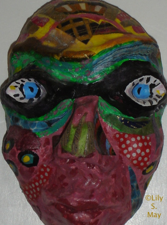 Papier Mache Mask, ©1997 Lily S. May