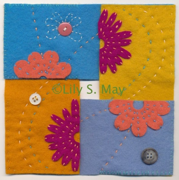 Felt Flower Square, ©2014 Lily S. May