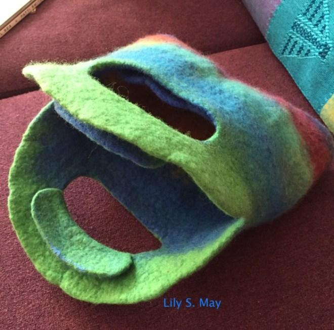 Another view of the purse. Lily S. May, 2015
