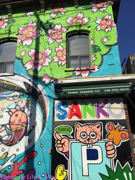 Sanko mural on Queen Street West, Toronto.  Photo by Lily S. May