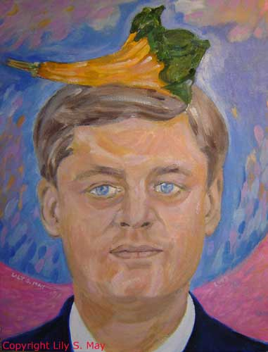 Canadian Prime Minister, Stephen Harper, with an ornamental gourd on his head. ©Lily S. May, 2009